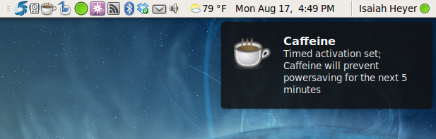 Caffeine unter Linux